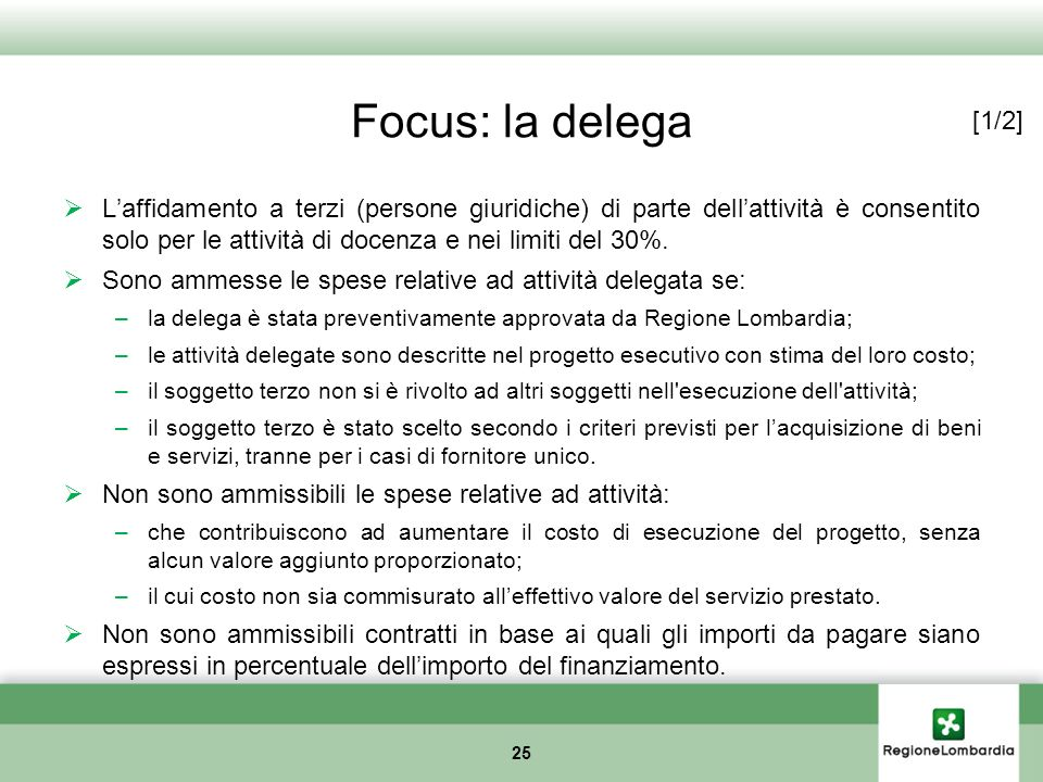 Focus: la delega [1/2]